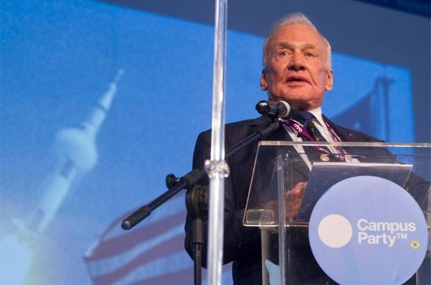 Astronauta Buzz Aldrin falou no evento 'nerd' (Foto: Cristiano Sant'Anna/indicefoto/Divulgação)