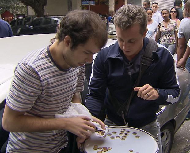 Bruno levou mais de R$44 mil para casa (Foto: Caldeirão do Huck/TV Globo)