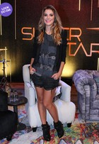 Look do dia: Rafa Brites usa modelito estiloso na coletiva de 'SuperStar'