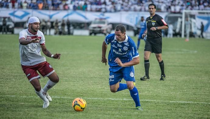 Wallace Pernambucano, meia-atacante do Confiança (Foto: Filippe Araújo/FSF)