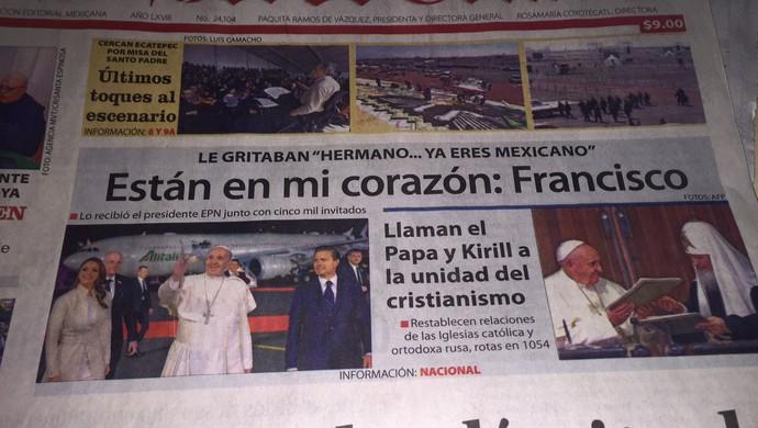 Papa Francisco visita ao México Toluca (Foto: Eduardo Moura/GloboEsporte.com)