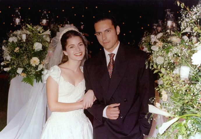 O casamento da personagem Tainá, em 'Malhação' (Foto: Acervo - TV Globo)