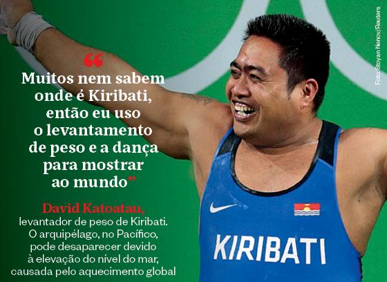 Frases que resumem a semana   David Katoatau (Foto: Stoyan Nenov/Reuters)