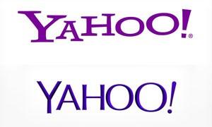 Yahoo com seu logotipo antigo acima e o novo abaixo (Foto: Reprodução/Yahoo)