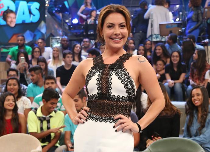 Fabiula Nascimento participa da gravação do programa Altas Horas (Foto: Carol Caminha/Gshow)