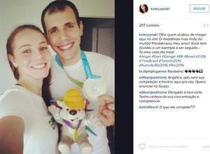 Angélica Kvieczynski , Daniel Paiola, Pan de Toronto (Foto: Reprodução/ Instagram )
