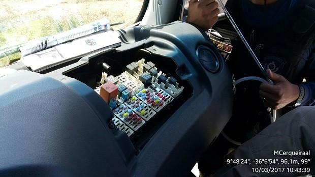 Sistema que mede emissão de poluentes no caminhão foi adulterado para registrar quantidade menor do que a realmente emitida (Foto: Divulgação/ Ibama)