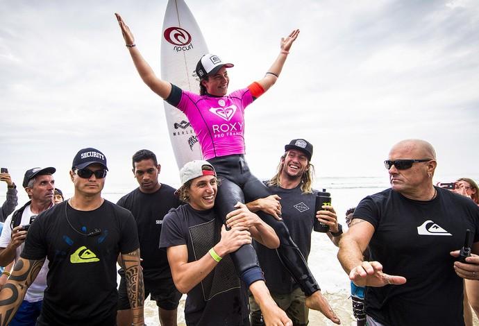 Tyler Wright, campeã do surfe feminino, etapa de Hossegor (Foto: ASP / Site oficial)