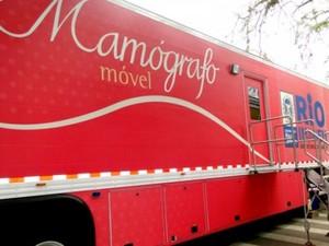 Mamógrafo móvel atende moradores de 14 cidades da Região Noroeste