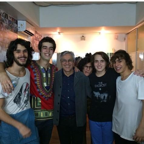 Caetano Veloso com a Banda Dônica (Foto: Arquivo pessoal)
