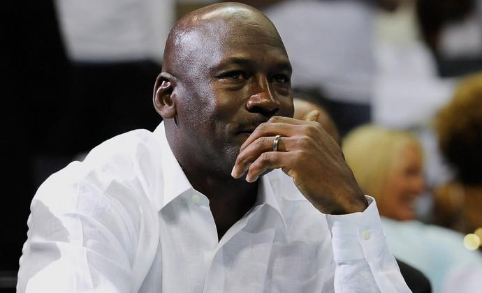 Basquete NBA - Michael Jordan assiste Miami Heat x Charlotte Bobcats (Foto: Getty Images)