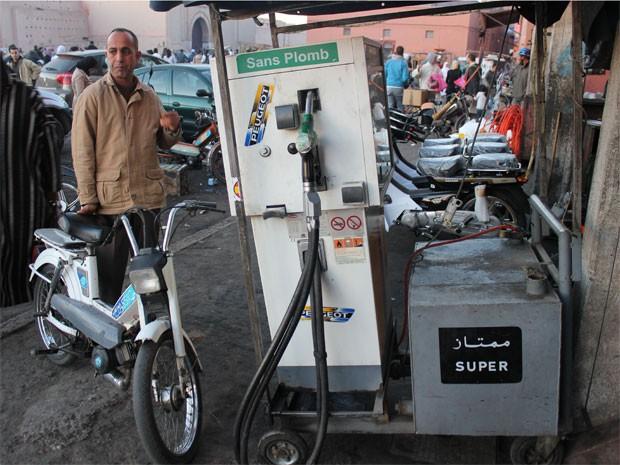 Posto de gasolina Marrakech 1 (Foto: Dennis Barbosa/g1)