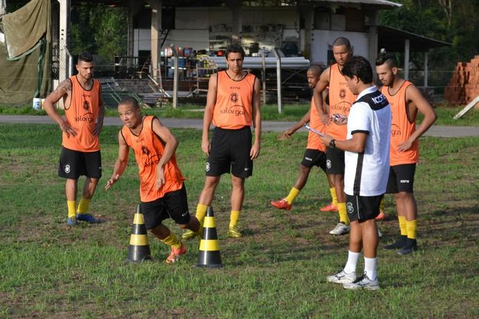 Testes físicos do Rio Branco-ES (Foto: Sidney Magno Novo/GloboEsporte.com)
