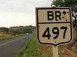 Pesquisa da CNT aponta que são ruins as condições da BR-497 em MG (Foto: Reprodução/TV Integração)