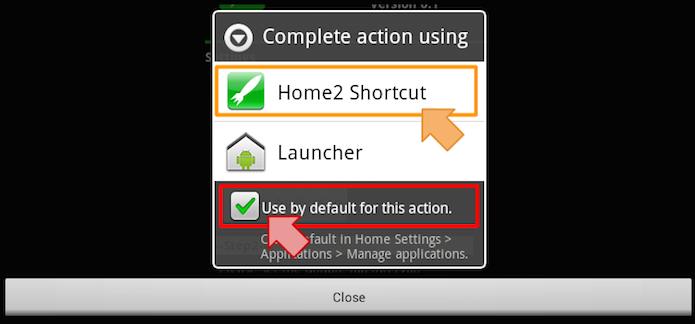 Selecionando o Home2 Shortcut para executar (Foto: Reprodução/Edivaldo Brito)