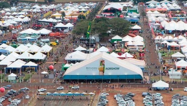 Local da exposição Agrishow, em Ribeirão Preto: feira mistura agronegócio e tecnologia (Foto: Divulgação)