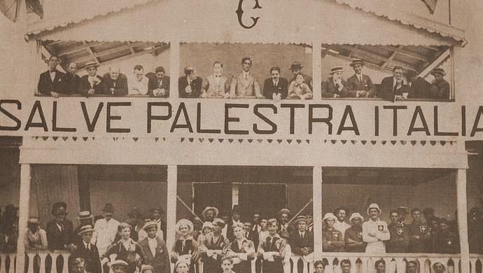 Palestra Itália x Savoia - primeiro jogo da história do Palmeiras (Foto: Acervo Histórico Sociedade Esportiva Palmeiras)