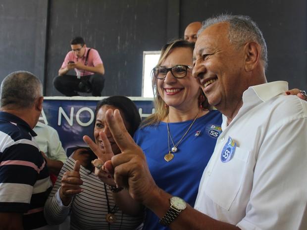 Dr. Pessoa é o candidato do PSD com a coronel Júlia Beatriz (PR) como vice na chapa  (Foto: Patrícia Andrade/G1)