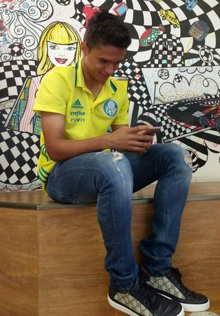 Erik Palmeiras cartola (Foto: Tossiro Neto)