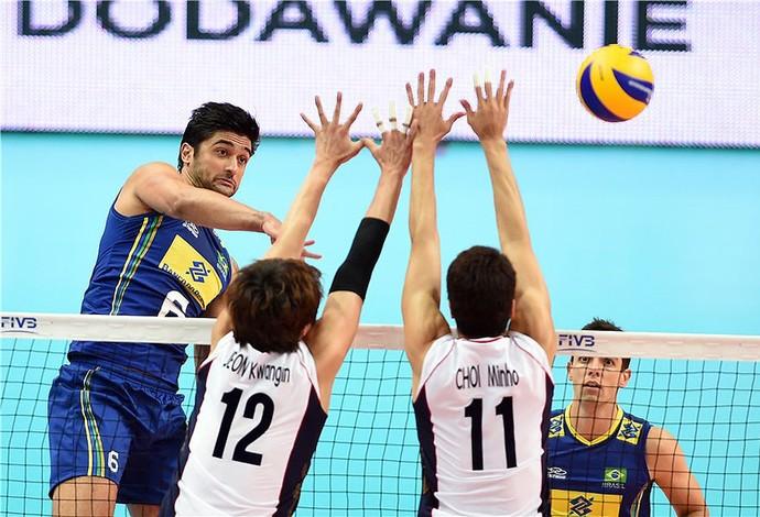 Vissotto, Brasil X Coreia, Mundial de vôlei (Foto: Divulgação / FIVB)