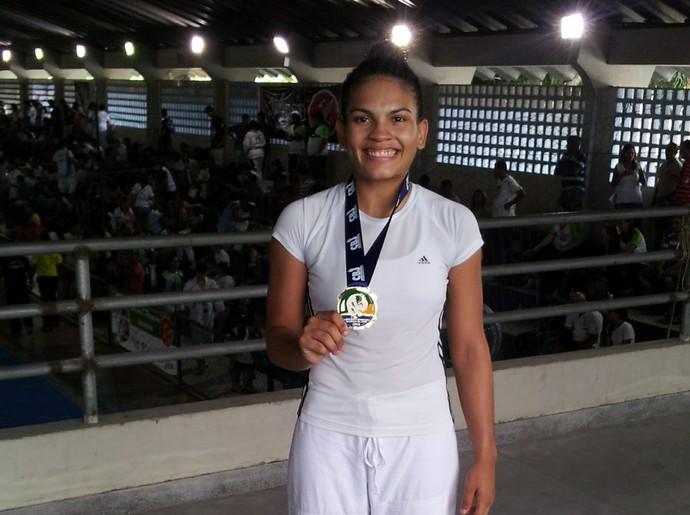 Judoca petrolinense Cynthia Silva (Foto: Cynthia Silva/Arquivo Pessoal)