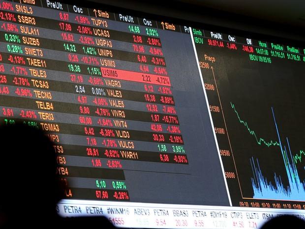 Movimentação na Bovespa, a bolsa de valores de São Paulo (Foto: Paulo Whitaker/Reuters)