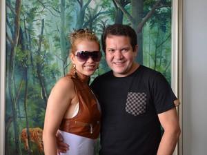 Joelma e Chimbinha fazem show em Guajará-Mirim, RO (Foto: Leile Ribeiro/G1)