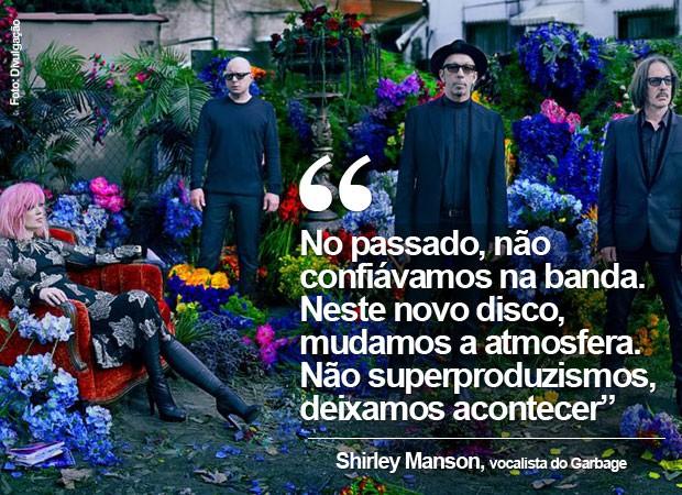 Shirley Manson, do Garbage, em entrevista ao G1 (Foto: Divulgação)