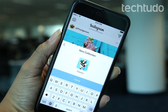 Instagram ganha recurso coleções para você organizar posts salvos (Foto: Carolina Ochsendorf/TechTudo)