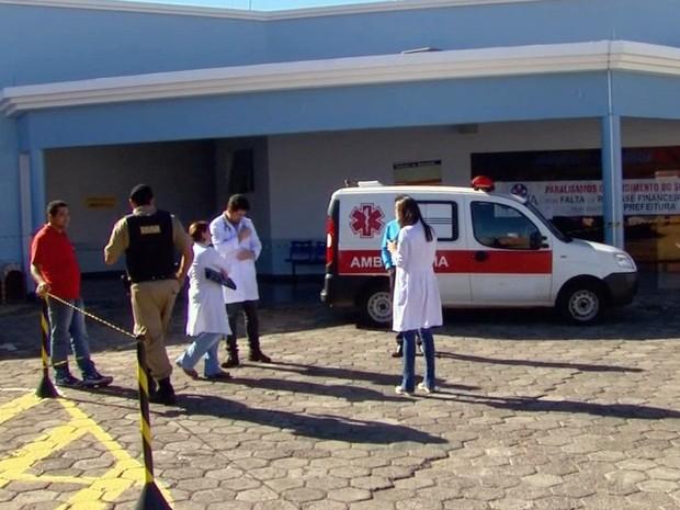 Setor de urgência e emergência de Santa Casa de São Sebastião do Paraíso (MG) está paralisado. (Foto: Reprodução EPTV)