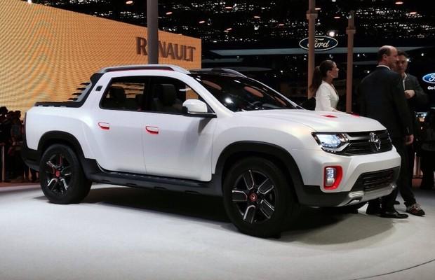 Picape Renault Duster Oroch é revelada no Salão do Automóvel 2014 (Foto: Julio Cabral/Autoesporte)