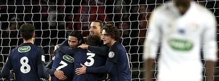 Lucas joga bem, Ibra decide, e PSG elimina o Lyon na Copa da França (AFP)
