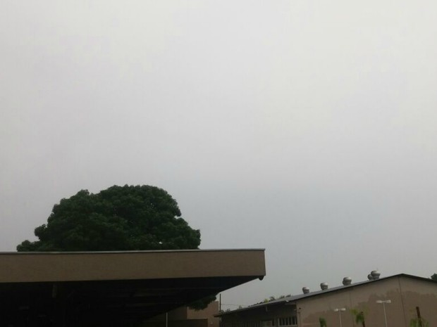 Tempo ficou fechado na capital e choveu no período da tarde nesta sexta-feira (23). (Foto: Nathália Rabelo/ G1 MS)