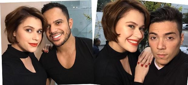 O make up artist ThiPeer e o hair stylist Felipe Lobeu, do MG Hair (Foto: Eduardo Garcia)