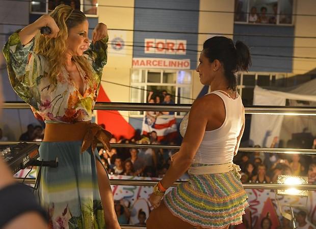 Claudia Leitte e Sheila (Foto: Ag News)