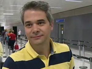 Guilherme Hatschbach, administrador de empresas, passageiro do mesmo voo do Pizolatto (Foto: Reprodução/Globonews)