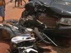 Carro conduzido por adolescente atropela e arrasta motociclista