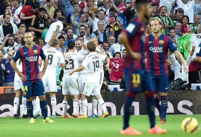 Benzema, Real Madrid x Barcelona (Foto: AFP)