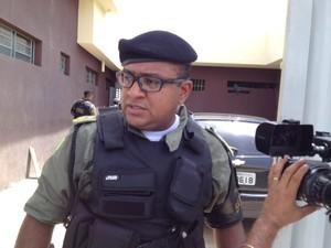 Major John Feitosa, comandante do 5º Batalhão na capital (Foto: Gil Oliveira/ G1)