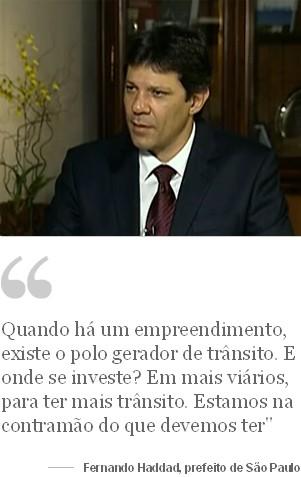 Globo News - Frase Fernando Haddad (Foto: Globo News)