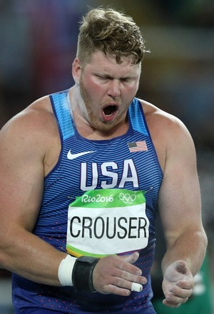 Ryan Crouser bateu o recorde olímpico do arremesso do peso (Foto: Reuters)