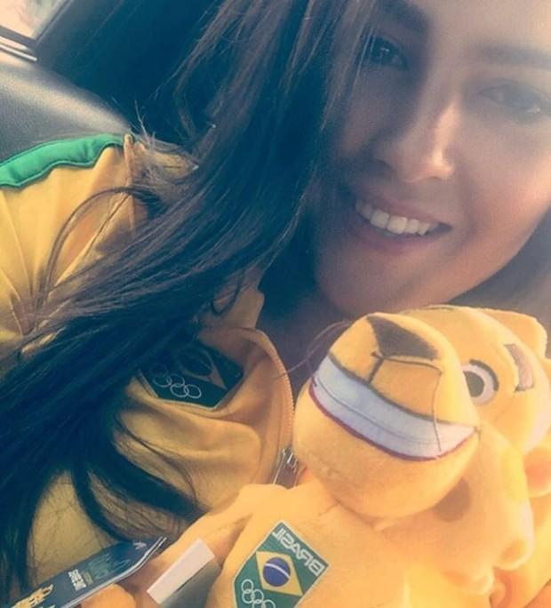 Amanda Simeão com o uniforme do Time Brasil (Foto: Reprodução/Instagram)