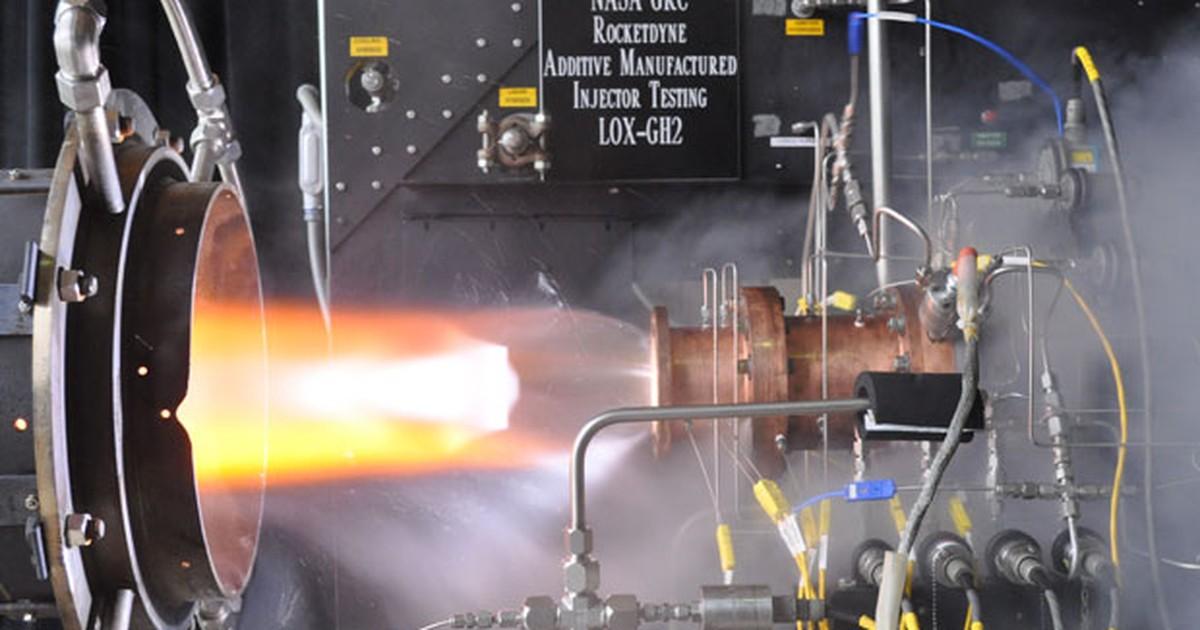 Nasa conclui testes de componente de foguetes feito com impressora 3D