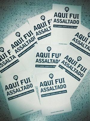 cartazes Grupo cria projeto de mapeamento colaborativo de assaltos no RS