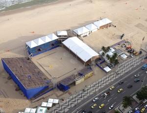 como circuito mundial volei de praia evento-teste rio (Foto: Divulgação/FIVB)