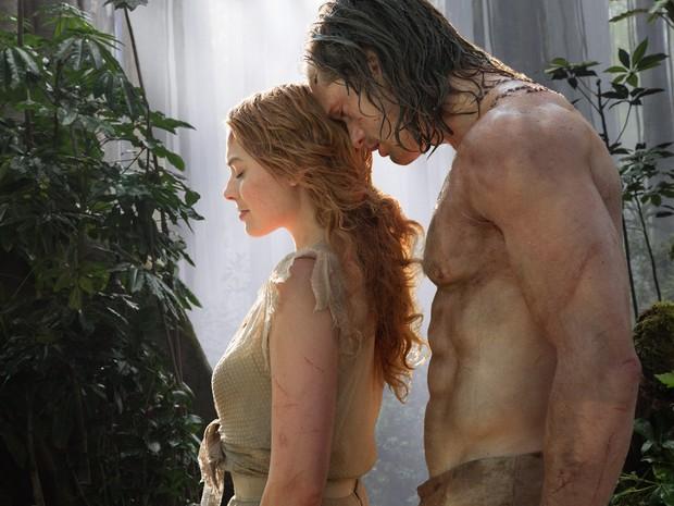 Margot Robbie e Alexander Skarsgård em 'A lenda de Tarzan' (Foto: Divulgação)