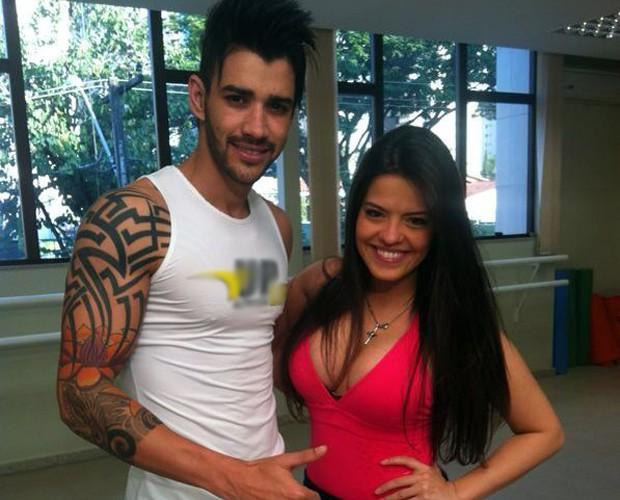 Gusttavo Lima e Ana Flávia em um dos ensaios (Foto: Arquivo Pessoal)