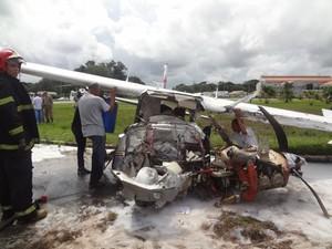 Aeronave Cai Belém Pará Daniel Berg Avião (Foto: Thais Rezende/G1)