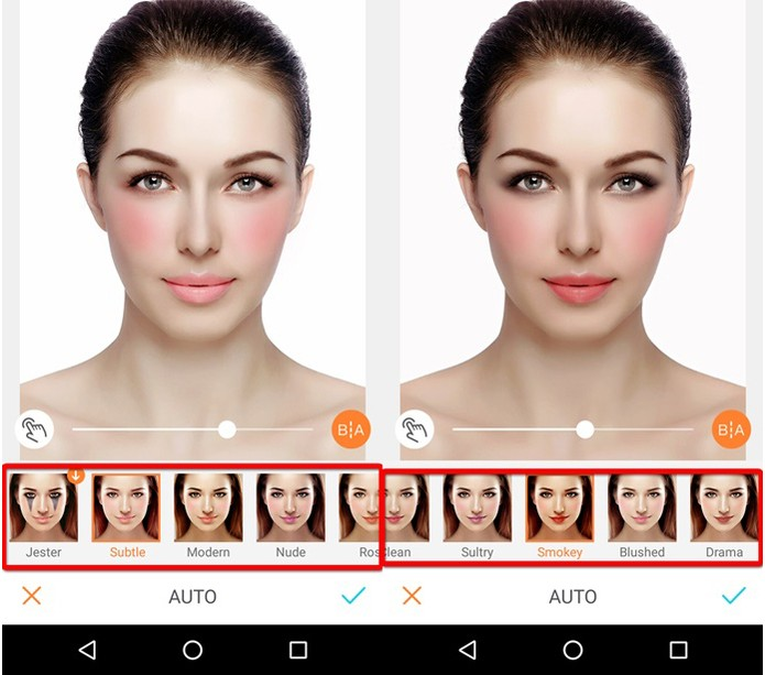 Opções de maquiagem do aplicativo (Foto: Reprodução/Felipe Alencar)