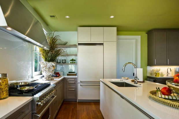 Verde Greenery, tom da Pantone para 2017, invade a decoração (Foto: Reprodução / Pinterest)